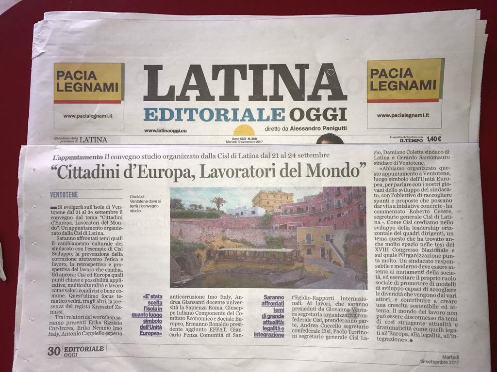 articolo ventotene latina oggi
